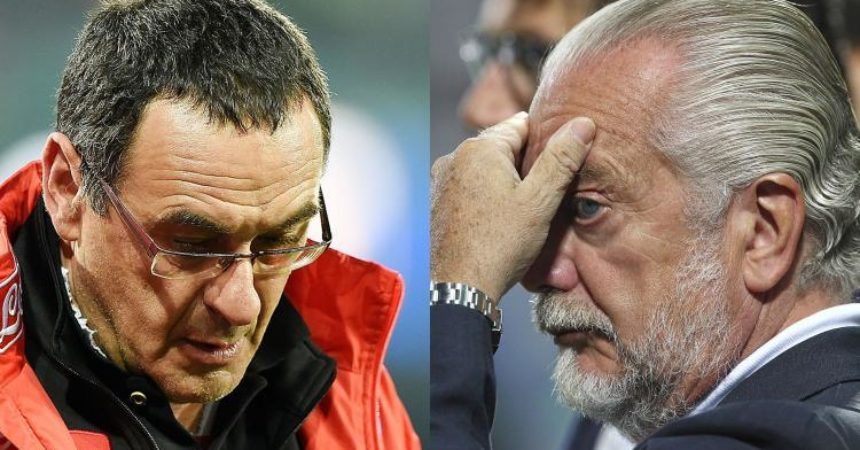 Napoli: De Laurentiis contro Sarri nell'infuocato post partita di Madrid (Video)